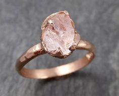 hochzeitsschuhe rosegold Raw Rough Morganite Rose gold solitaire Pink Gemstone Cocktail Ring Statement Ring Raw gemstone Jewelry by Angeline 0924 Raw Gemstone Jewelry, Rose Gold Jewelry, Crystal Jewelry, Fine Jewelry, Jewellery, Engagement Ring Shapes, Gemstone Engagement Rings, Solitaire Engagement, Wedding Rings Rose Gold