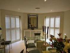 Beautiful shutters in white from our Traditional range