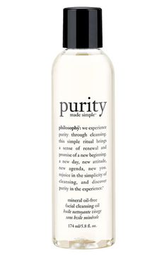 philosophy 'purity made simple' facial cleansing oil | Nordstrom  .,Just bought this after reading so many amazing things about cleansing with oil...love it so far.