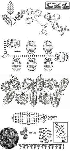 Ирландское кружево. Советы, схемы, изделия. | ИРЛАНДСКОЕ,БРЮГСКОЕ,РУМЫНСКОЕ,ЛЕНТОЧНОЕ КРУЖЕВО | Постила Irish Crochet Patterns, Crochet Pants, Irish Lace, Crochet Flowers, Dresses, Ireland, Flowers, Vestidos, Crocheted Flowers