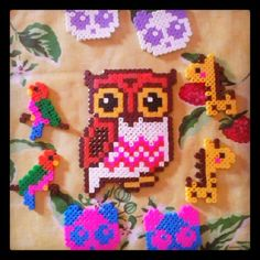 Owl hama beads by fede_amanda