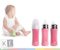 1 Stainless Steel Baby Bottles are your toxin free alternative to using plastic baby bottles. Compatible teat connector, bacteria & mold resistant and also available from Baby Bottles, Alternative, Water Bottle, Stainless Steel, Plastic, Kids, Free, Products, Toddlers