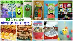 10 Creative Monster Party Ideas #KidsParties