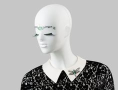FUSION Collection by More Mannequins #FemaleMannequins #mask #bijoux #lace #eyelashes #crystals #dragonfly #facesticker