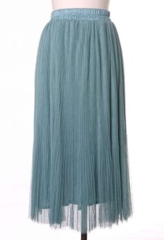 #Chicwish Tulle Tours Skirt in Mint
