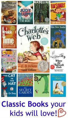 Classic books that your kids can't miss! I've read a few. Time st start reading to the babies