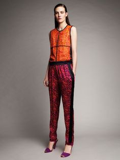 Narciso Rodriguez For Design Nation at Kohl's: Sleeveless Woven Tee, $54; Pajama Pants, $48  Photos courtesy of Kohl's