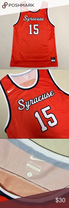 Syracuse University - Nike Men's Bball Jersey  🏀 Syracuse University  Nike Basketball Jersey #15  Size Men's Large   New without tags!!  🏀 Nike Shirts Tees - Short Sleeve