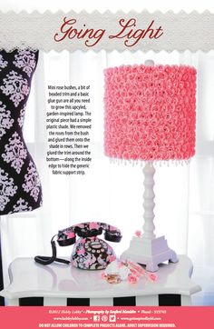 Upgrade your lamp with this garden-inspired DIY rose design.