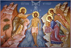 Theophany of Our Lord and Saviour Jesus Christ The Sourse, Jesus Lives, Jesus Christ, Christian Girls, Christian Devotions, Orthodox Christianity, John The Baptist, Orthodox Icons, Op Art