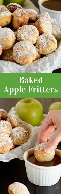 These baked apple fritters are so delicious. Whip up this easy recipe and enjoy a fair classic that is baked and not fried!