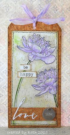 """Kath's Blog......diary of the everyday life of a crafter: """"12 Tags of 2015""""...April. Stamp set...Tim Holtz Collection - CMS215 - Flower Garden"""