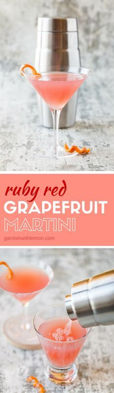 You don't need a special occasion to serve a fun cocktail. This Ruby Red Grapefruit Martini is great any night of the week!