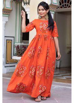 Sunset Block Print Dress - | 2100