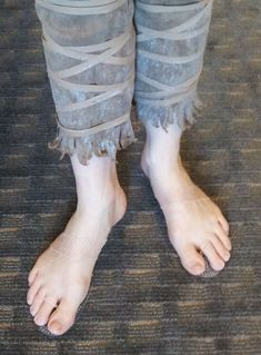 Invisible shoes for cosplaying a character with bare feet. Where have these been?!