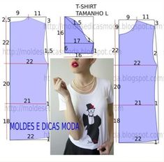 Mod@ en Line@ - Easy T-shirt pattern