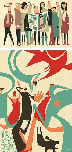 Illustrations by Iv Orlov | Inspiration Grid | Design Inspiration
