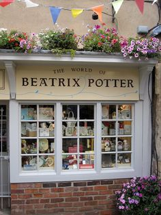 Beatrix Potter, Author of Peter Rabbit. Window of The World of Beatrix Potter | Gloucester, England