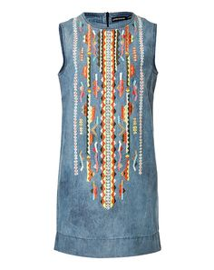 ANTIK BATIK Embroidered Denim Dress