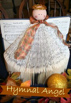 How to Make a Hymnal Angel- I want to try but with a regular book instead.