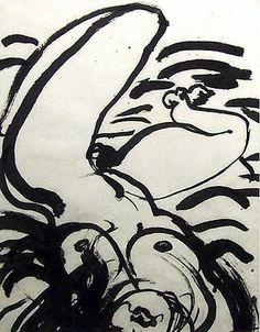 Brett Whiteley Ink drawing titled Her by the famous contemporary Australian artist from Sydney. Contemporary Australian Artists, Australian Painting, Figure Sketching, Figure Drawing, Life Drawing, Figure Painting, Painting & Drawing, Etching Prints, Dibujo