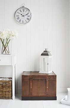 Faux leather storage trunk. Affordable and elegant storage solutions for your home from The White Lighthouse. Order online with fast Delivery.