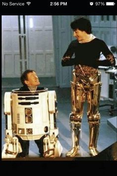 On set of Star Wars