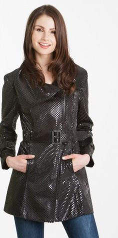 Sparkle and shine in this black coat!