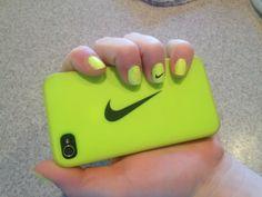 neon Nike nails