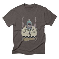 psychotic-tv mens triblend-t-shirt in tri-coffee