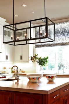 Like To Enlight Your #Kitchen #Island:Cage Bulb Kitchen Island Lighting Ideas–glass Box Kitchen Island Lighting Ideas