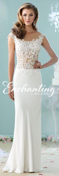 Enchanting by Mon Cheri - The Premiere Collection ~Style No. 215100  #laceweddingdress