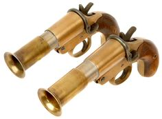 Pair of Deactivated SPRA Naval Flare/Sign Pistols