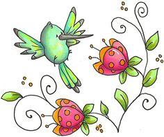 colibri dessin