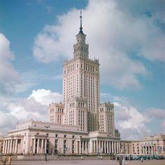 Warszawa - Pałac Kultury i Nauki, fot. Paul Almasy/Corbis (1960)