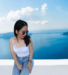 Blue Mirrors, Santorini, Eyewear, Mirrored Sunglasses, Sky, Rose, Summer, Travel, Shopping