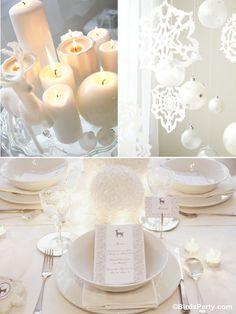 White Winter Wonderland Wedding Decor