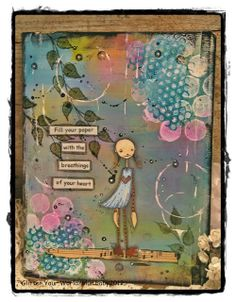 Glitter Your World ®: Breathings of Your Heart....Mixed Media Art Journal
