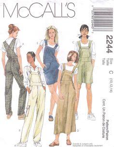 Women's Bib Overalls Sewing Pattern - Front buckles, Bib Overalls dress Jumper - Size 12 14 16 McCalls 2244 UNCUT - Women& Bib Overalls Sewing Pattern – Front buckles, Bib Overalls dress Jumper – Size 12 14 16 McCalls 2244 UNCUT Source by - Mccalls Sewing Patterns, Vintage Sewing Patterns, Clothing Patterns, Pattern Sewing, Overalls Women, Bib Overalls, Overalls Fashion, Look Vintage, Overall Dress