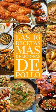 Las 16 recetas mas deliciosas de Pollo – Manitas DIY Pollo Piccata, Tandoori Chicken, Chicken Wings, Meat, Ethnic Recipes, Diy, Carne, Philadelphia, Chicken Cutlets