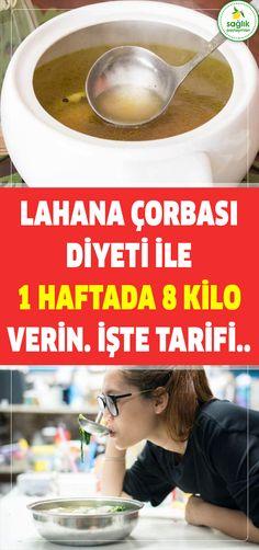 lahana çorbasi di̇yeti̇ i̇le  1 haftada 8 ki̇lo veri̇n. i̇şte tari̇fi̇..  #sağlık #pratik #zayıflama #diyet #şifa #kilo #karatay Viera, Wok, Memorial Day, Health Fitness, Cooking, Healthy, History, Ideas, Weights