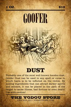 Goofer Dust : The Vodou Store Hoodoo Spells, Magick Spells, Witchcraft, Voodoo Magic, Magic Herbs, Dark Spirit, Voodoo Hoodoo, Modern Witch, The Conjuring