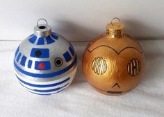 Not sure whether this should be pinned under Star Wars or Christmas!! Nerd Craft Christmas-  R2D2 & C3PO Christmas Ornaments