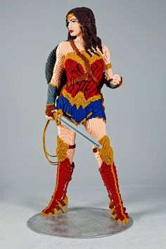 Gal Gadot as Wonder Woman--in Legos. From SDCC.