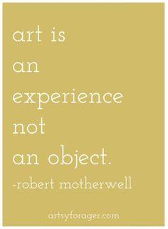 Art-is-an-experience-not-an-object