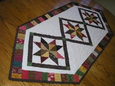 Starburst Quilted Table Runner 20  x 48 от simpletreasures55