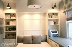 A Place for Everything: Home office/guest room with Murphy Bed by Nagwa Seif Interior Design.