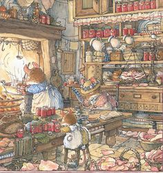 I can't explain how much I love the Brambly Hedge books, especially the illustrations of the kitchens.
