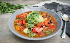 Well Nourished ⎮ Mexican Minestrone Soup recipe. This is my next recipe to…