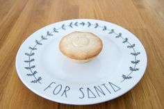 A little hand illustrated porcelain plate to leave Santa {and Rudolph too} a little treat on Christmas eve...    As a child I used to be filled with